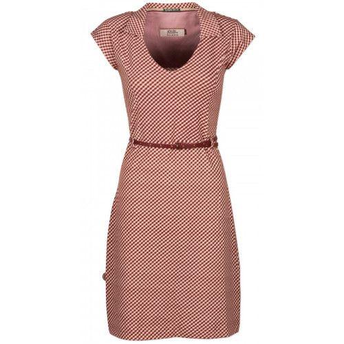 <p>Nieuw van 4Funkyflavours! Mooie vintage jurk de Lady Love dress in Bordeaux met roze uit de collectie Landscapes.</p>