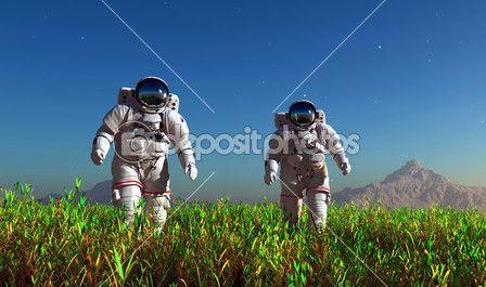 dwóch astronautów — Obraz stockowy #11392289