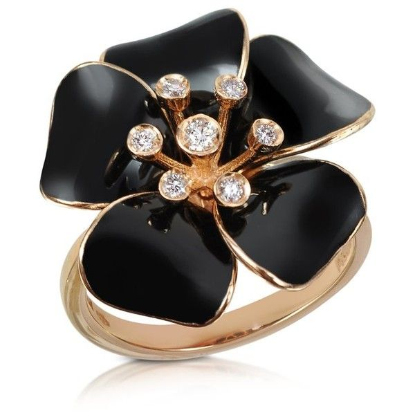 Rosato Marigold - Diamond and 18K Gold Black Small Flower Ring found on Polyvore: Black Enamel, Flower Rings, Gold Black, Black Small, Rosato Marigold, Gold Rings, Marigold Diamonds, 18K Gold, Small Flowers
