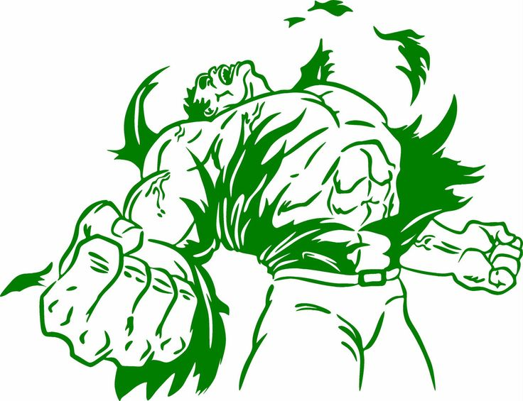 Angry Hulk Vinyl Cut Out Decal