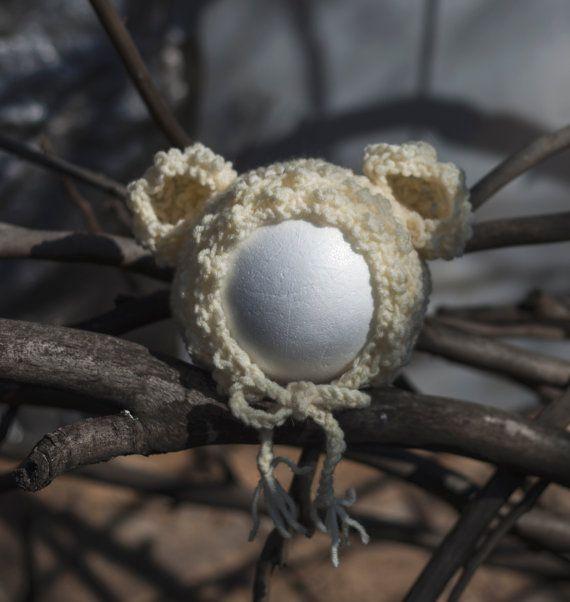 Newborn Bear Knit Hat Bear Newborn Baby Hat by GabriCollection
