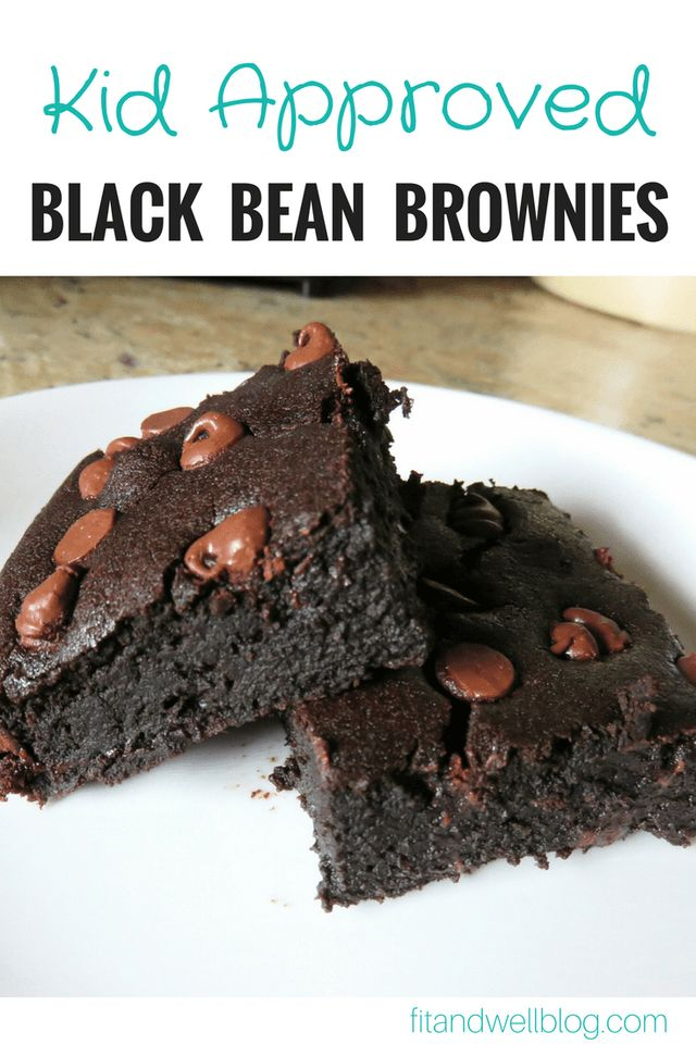 Kid Approved Black Bean Brownies