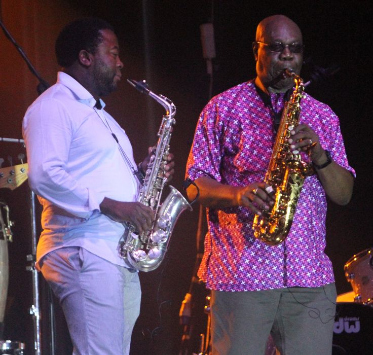 with Manu Dibango at Morejazz 5, Maputo - October 2015