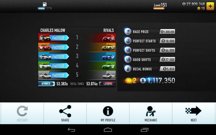 CSR Racing for Android / The International