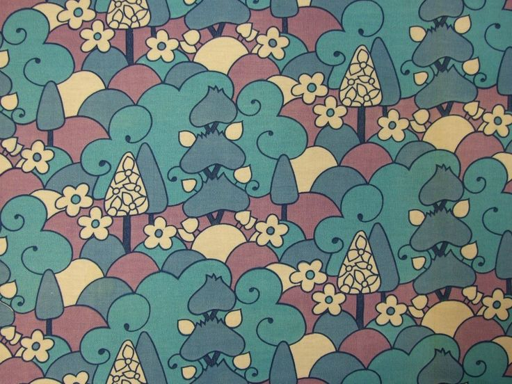 Blue trees fabric - available by thte fat quarter from Rainbow Vintage Home online shop