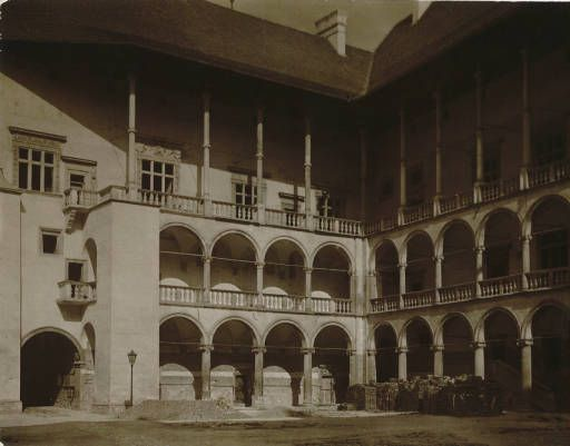 The royal castle of Wawel :: Jan Bulhak Collection :: Digital Collections :: University at Buffalo Libraries. Click the image to visit the University at Buffalo Libraries Digital Collection and learn more about the photograph. #ublibraries #polishroom #JanBulhak #Poland