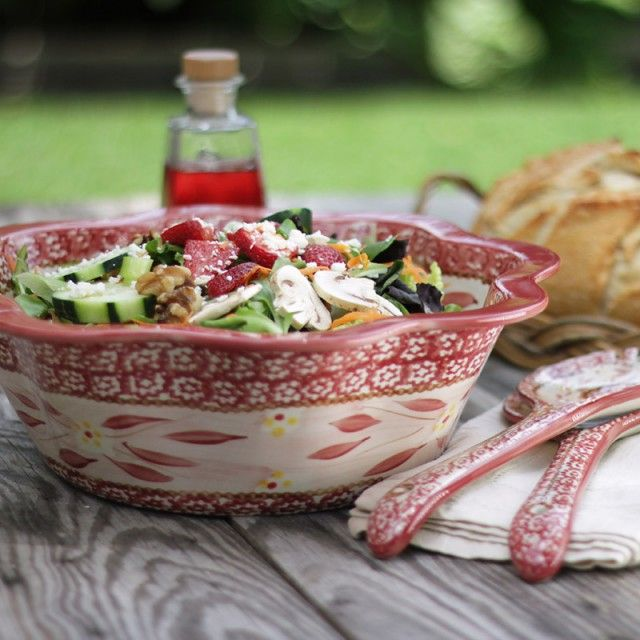 temp-tations® Old World Fluted Salad Bowl with Serving Tongs :: temp ...