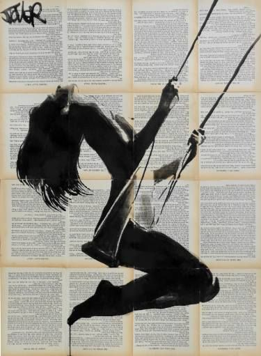 "Saatchi Art Artist Loui Jover; Drawing, ""lightness of being (SOLD)"" #art"