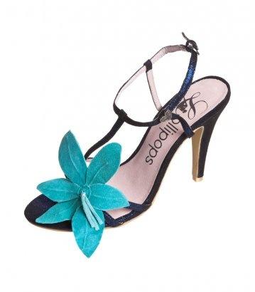 Sandales à talons hauts - bleu foncé/turquoise