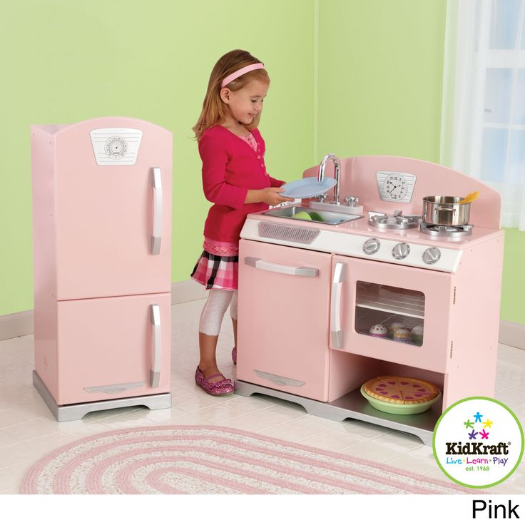 KidKraft Retro Kitchen and Refrigerator | Overstock.com