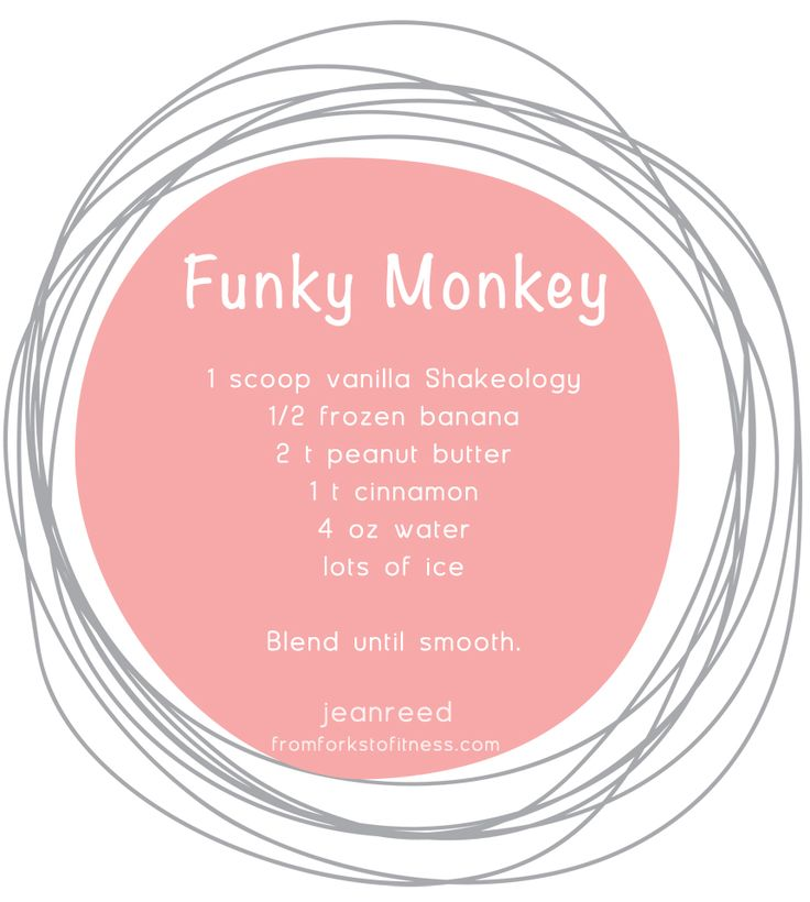 Funky Monkey Shake | From Forks to Fitness, 21 Day Fix