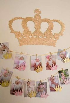 hanging pictures for 1st birthday