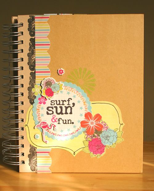 Fancy Pants Brag Book by Sarah Mullanix, paper line is Summer Soul - click to see the different way layouts for this book - great photos