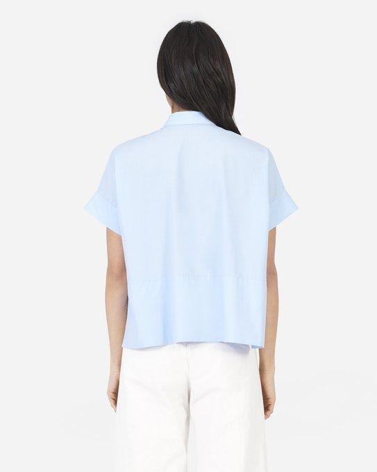 The Cotton Poplin Short-Sleeve Square Shirt - Everlane