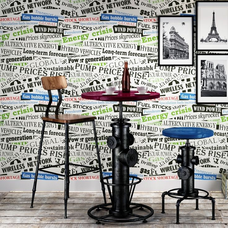 31.19$  Watch now - http://alis8y.shopchina.info/1/go.php?t=32650517292 - 3D Words Letters Wall Paper Roll For kids room bedroom walls wallpaper home decor tv background Retro 31.19$ #aliexpresschina