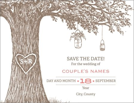 Why You'll Love White Oak Tree Wedding Save the Date Magnets