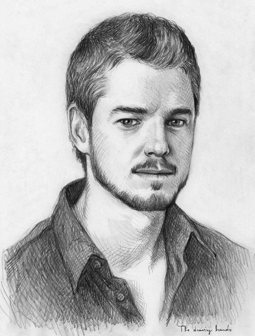 Grey's Anatomy Cast Art Sketches | Eric Dane by ...