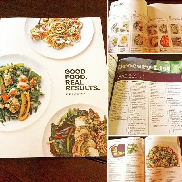 Good Food. Real Results. =    Epicure's Weight Management Program — Good Food. Real Results. Guide Book is so fabulous, the family asked to do the meal plan! #ldnont So colourful