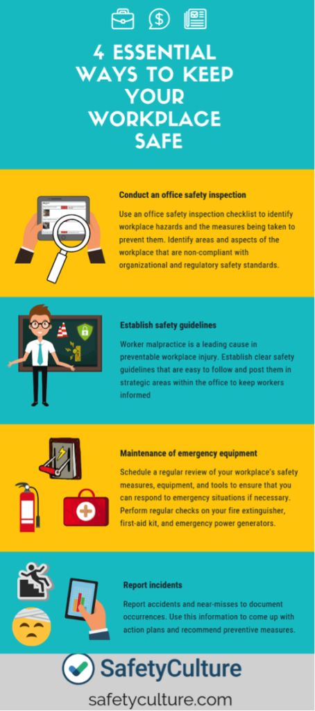 4 Essential Ways to Keep Your Workplace Safe [Infographic ...