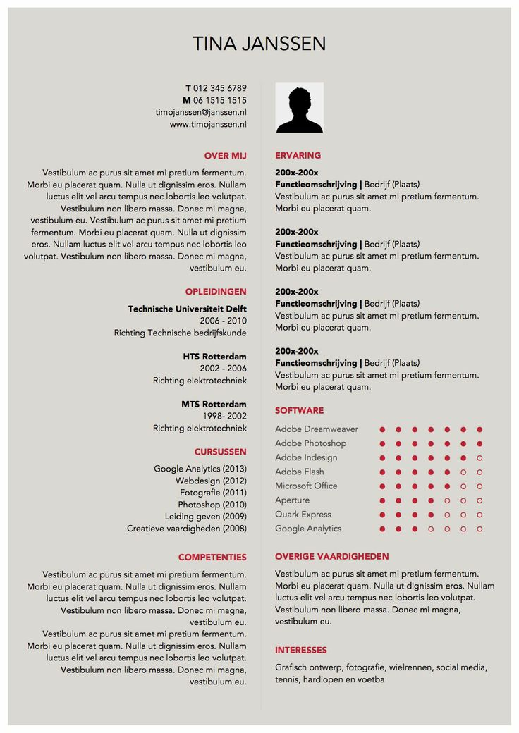 318 best Originele cvu0027s images on Pinterest Page layout, Resume - resume or curriculum vitae