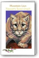 Beaded Mountain Lion Tapestry Graph, Instructions & Kit. (If you would like to see this on our website, please click on the picture). $23.95