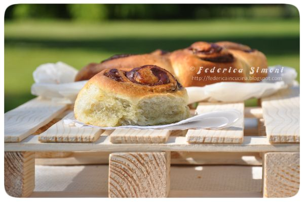 Brioche con nocciolata