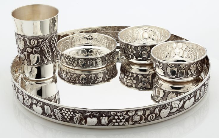 A Traditional Silver Thali Set Every Cloud Has A Silver Lining Pinterest Traditional