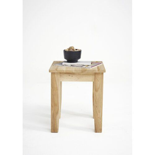 Amelia Side Table Gracie Oaks Colour Oiled Solid Beech Heartwood Cube Side Table Side Table With Storage Table