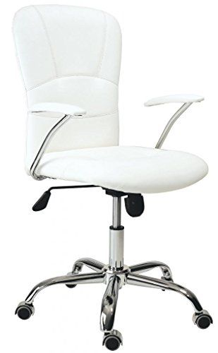hogar u silla de oficina giratoria despacho escritorio estudio con brazos color blanca http