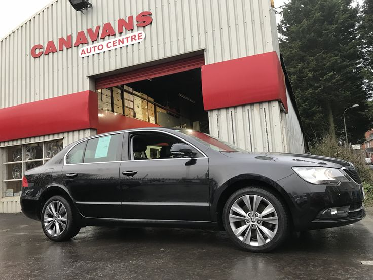 Big Skoda in for wheel colour change and refurb from plain black to our sparkle silver. Now looks much brighter and works better with the black car. Ask about our latest special offers throughout our warehouse.  028 3834 3724.
