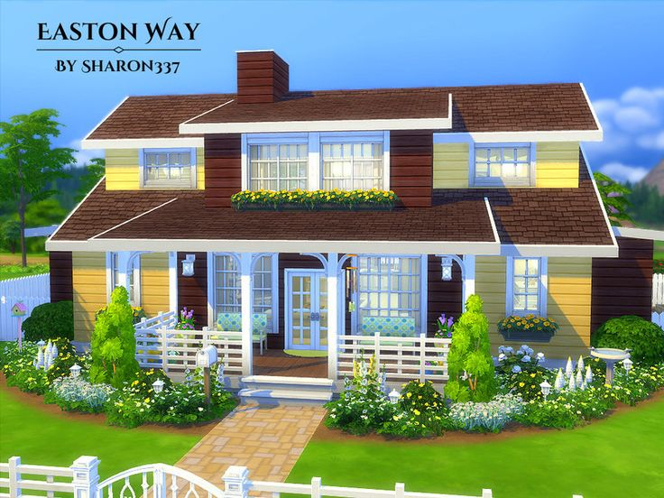 Easton Way is a family home built on a 40 x 30 lot in Newcrest on the Optimist's Outlook Lot..  Found in TSR Category 'Sims 4 Residential Lots'