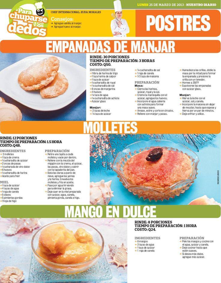Cocinas y Recetas: Postres de Semana Santa