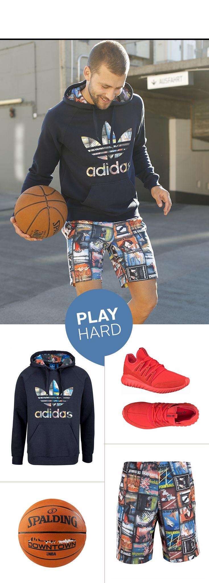 Der perfekte Look für deinen Weg zur Gym: Zip-Hoodie und Sweathose von Converse sind ultrabequem und ganz einfach über deinem Sportoutfit zu tragen – und für kältere Tage ziehst du einfach eine Weste drüber.