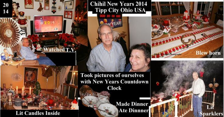 """New Year celebration at the Chihil""""s Tipp City, Ohio .. just the two of us"""