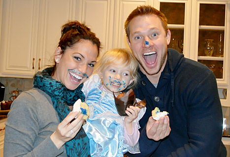 Melissa Rycroft and her husband Tye Strickland with their daughter Ava