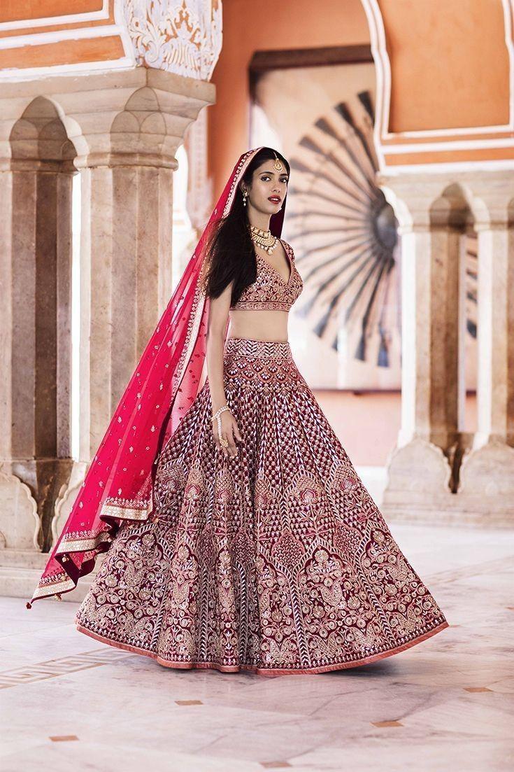 f416c1605  maroon  exclusive  designer  collectionoff  bridallehenga  manufacturedby   curomoda  buyonlineat  fabbily  lehenga  saree  indianwedding  fashion ...
