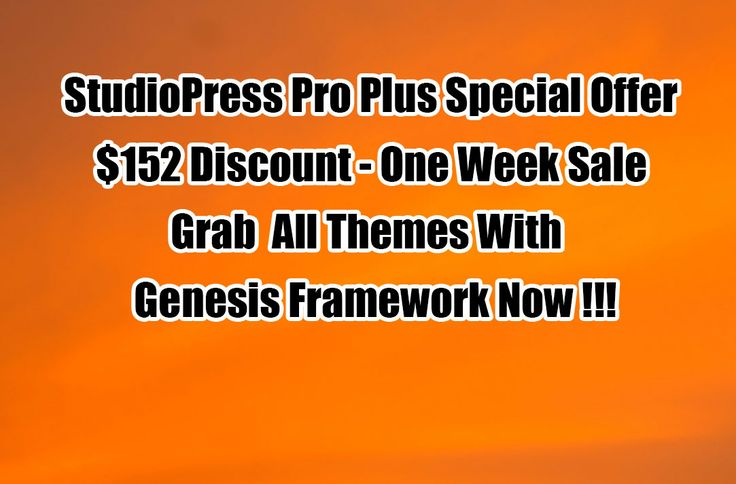 StudioPress Pro Plus Special Discount 2016 – Grab All Themes With Framework  #StudioPress #BlackFriday #BlackFridayDeal  http://www.frip.in/studiopress-genesis-pro-plus-offer/