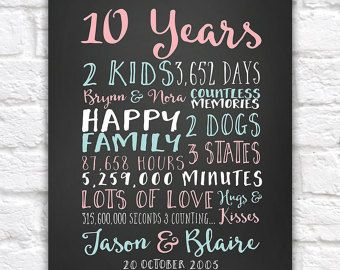 The 25+ best 10 year anniversary gift ideas on Pinterest | 1 year ...