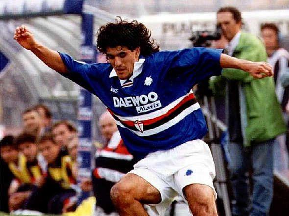 Ariel Ortega. Sampdoria.