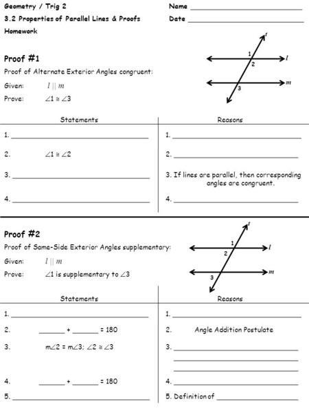 geometric proofs worksheet with answers introduction to