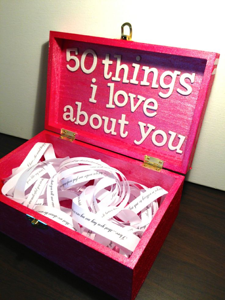 Valentines Day 50 Things I Love About You  Wreck this journal  Birthday gifts for girlfriend