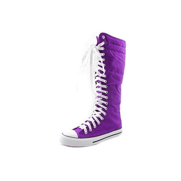 CONVERSE~Chuck Taylor~Knee High~PURPLE~All Sizes!~New ❤ liked on Polyvore  featuring shoes a5419d009