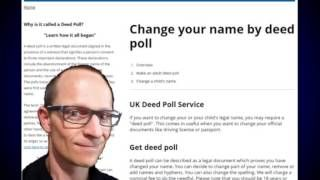 Published on Jul 21, 2015 http://www.deedpoll.ltd.uk What is the Eligibility for Deed Poll Applications ? According to the U.K. Government laws, anyone can opt to change their   name by means of a written deed poll. This includes people with criminal records, asylum seekers, undischarged bankrupts and any other individual   aged above 16. Please visit the DEED POOL web site below https://www.facebook.com/pages/Change-your-name-by-deed-poll/1617252885211036