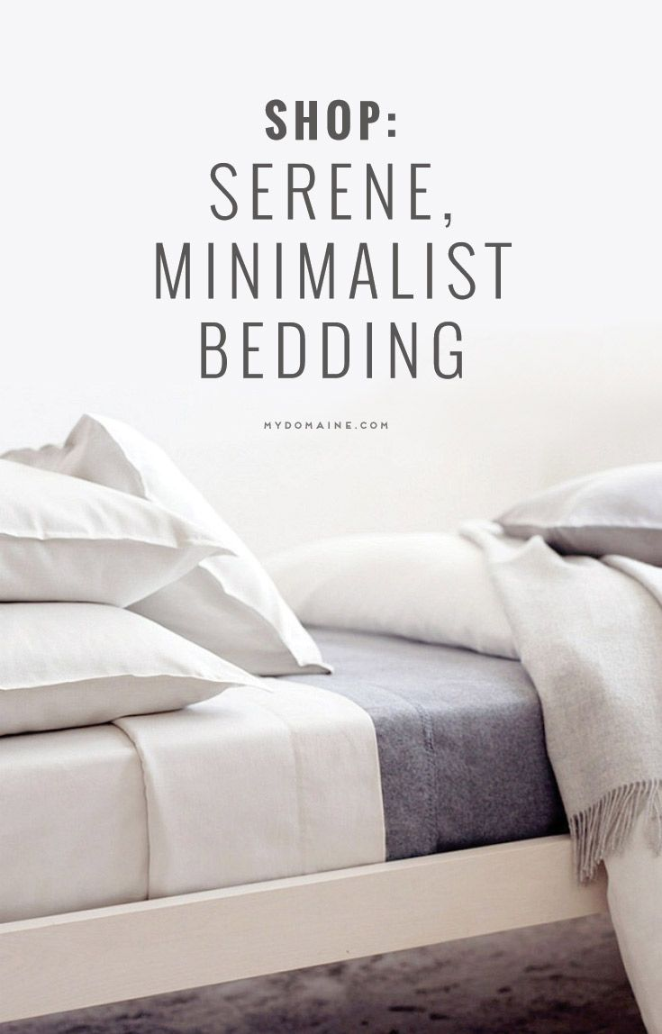 Shop Serene, Minimalist Bedding Now