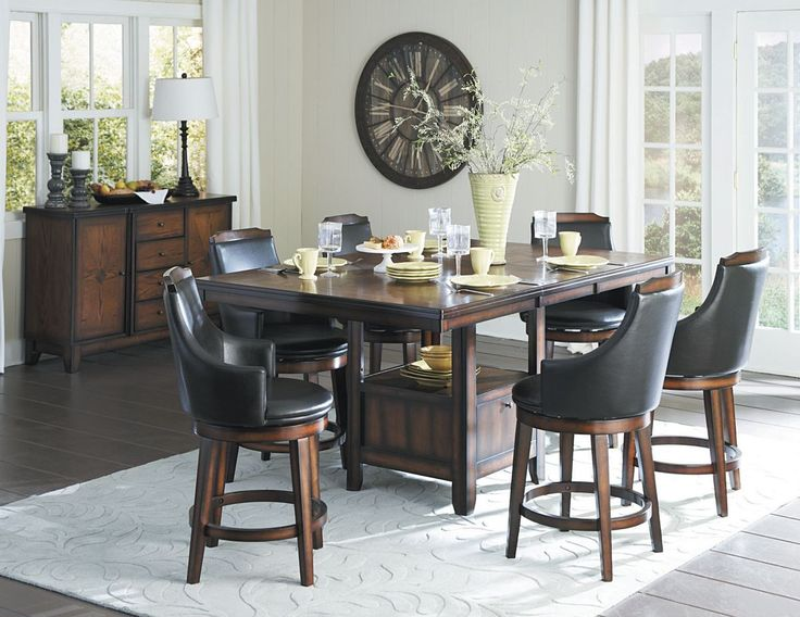 Bayshore Collection 7Pcs Counter Height Table & Chair Set 5447-36XL