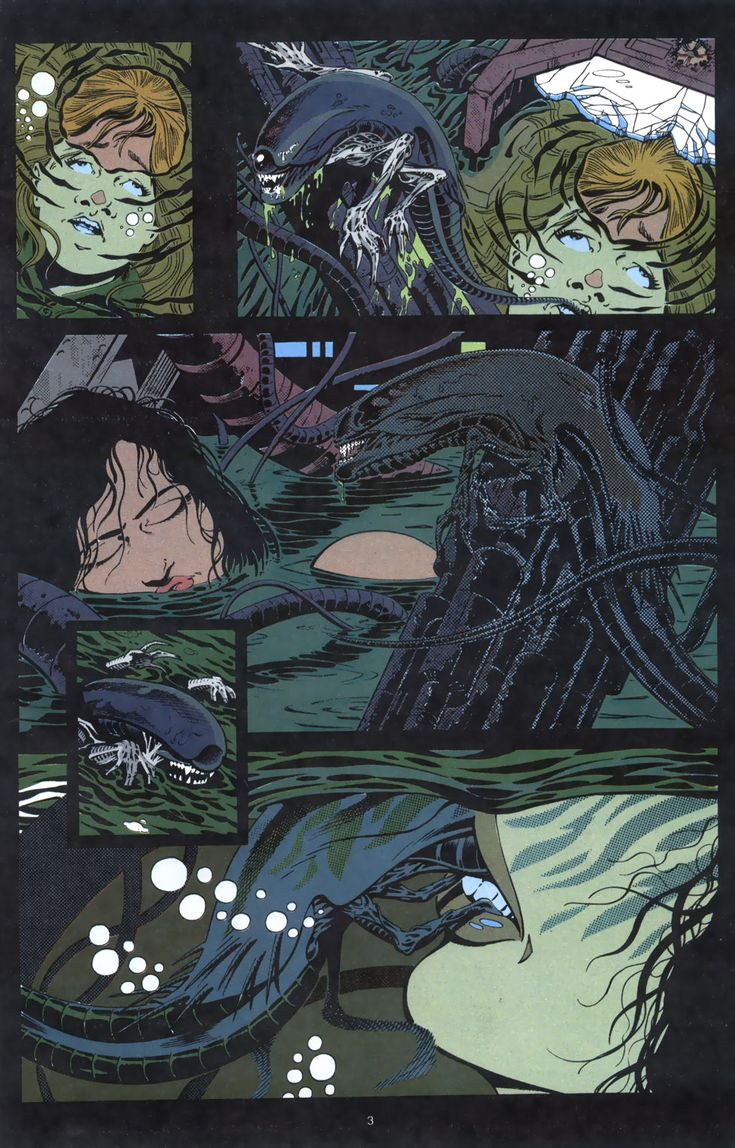 The Drowning Of Newt And Ripleys Impregnation In Alien 3 Alien Aliens Alien3 Ellenripley Alien3Comic Sulaco Sulacoeev Chestburster -7533