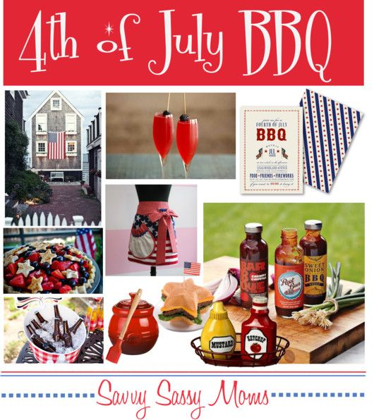 4th of july barbecue invitation