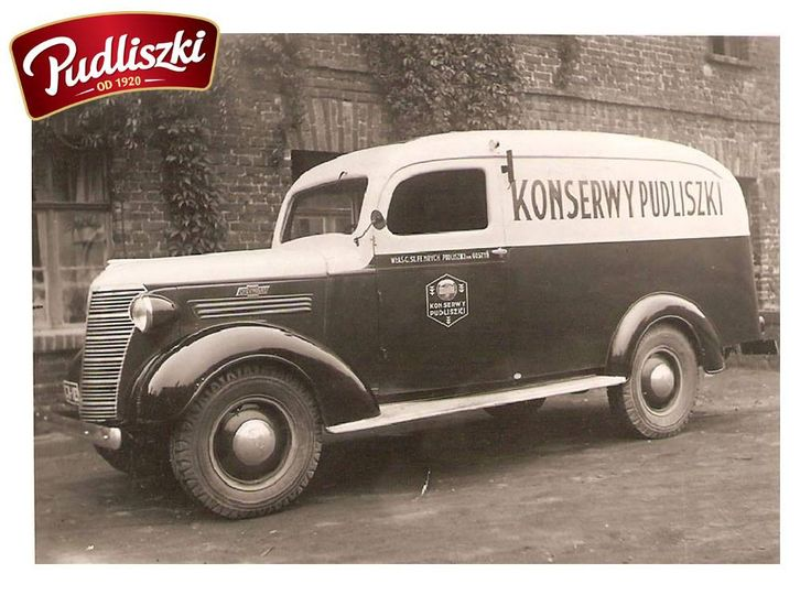 1938r. - Dostawczy 1937 Chevrolet Sedan Delivery z reklamą Pudliszki #pudliszki #historia