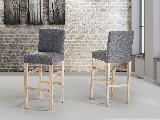 https://www.beliani.ch/wohnzimmer-moebel/barhocker/barhocker-grau-esszimmerstuhl-polsterstuhl-tresenhocker-2er-set-madison.html bar chair in dark grey, also available in light brown/beige