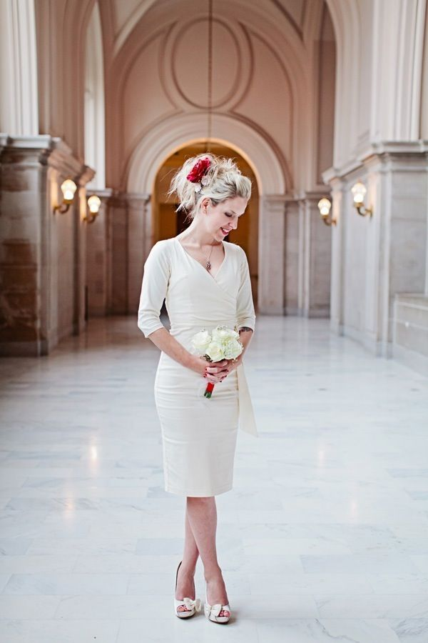 Flowers In Hair Wedding Idea San Francisco City Hall Wedding By Indu Huynh  Photography